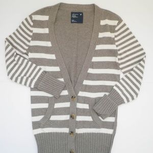 American Eagle Outfitters STRIPE Boyfriend Sweater